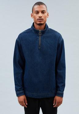 Indigo Blue Overhead Denim Jacket