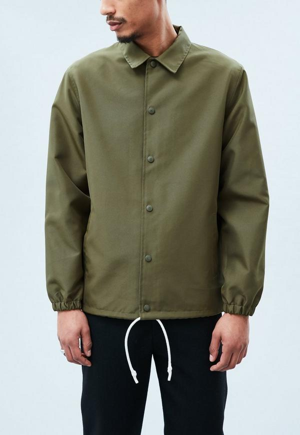 Khaki Coach Lined Jacket Mennace
