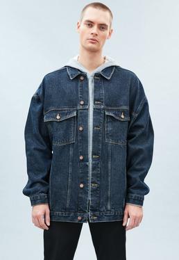 Dark Wash Super Oversized Carter Denim Jacket