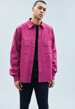 Mennace Pink Oversized Shirt